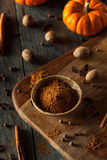 Organic Raw Pumpkin Spice. With Cinnamon Allspice Nutmeg and Ginger Stock Image