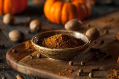 Organic Raw Pumpkin Spice stock photo
