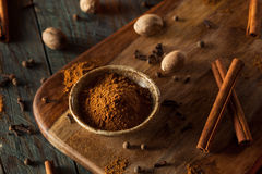 Organic Raw Pumpkin Spice. With Cinnamon Allspice Nutmeg and Ginger Royalty Free Stock Photography