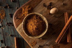 Organic Raw Pumpkin Spice. With Cinnamon Allspice Nutmeg and Ginger Royalty Free Stock Images