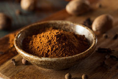 Organic Raw Pumpkin Spice. With Cinnamon Allspice Nutmeg and Ginger Royalty Free Stock Photo