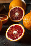 Organic Raw Red Blood Oranges Stock Images