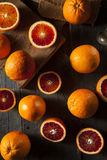 Organic Raw Red Blood Oranges Royalty Free Stock Image