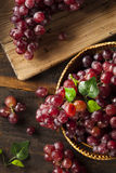 Organic Raw Red Grapes Stock Photo