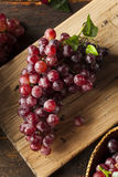 Organic Raw Red Grapes Stock Photos