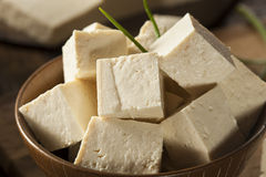 Organic Raw Soy Tofu Royalty Free Stock Images