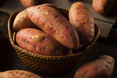 Organic Raw Sweet Potatoes Stock Photos