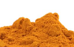 Organic Raw Turmeric Spice Royalty Free Stock Photos