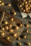 Organic Raw Yellow Pearl Onions Stock Photos