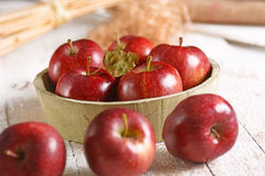 Organic red apples Stock Image