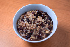 Organic red bean and brown rice soup Royalty Free Stock Photography