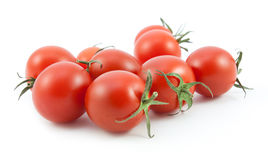 Organic red tomatoes on white Royalty Free Stock Photography