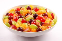 Organic refreshing summer fruit salad Royalty Free Stock Image