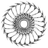 Organic ring mandala. Centered doodle in a modern style Royalty Free Stock Images