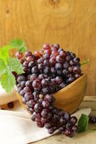 Organic ripe black grapes Stock Photography