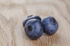 Organic ripe blueberries Stock Images