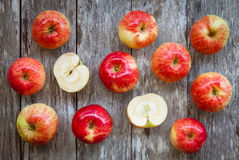 Organic ripe red apples Royalty Free Stock Image