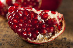 Organic Ripe Red Pomegranates Royalty Free Stock Photo
