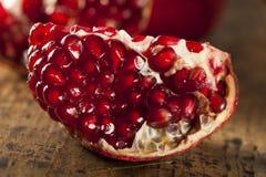 Organic Ripe Red Pomegranates Royalty Free Stock Photo