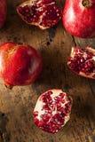 Organic Ripe Red Pomegranates Royalty Free Stock Photography