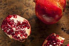 Organic Ripe Red Pomegranates Royalty Free Stock Photos