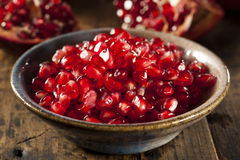 Organic Ripe Red Pomegranates Royalty Free Stock Images