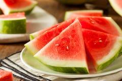 Organic Ripe Seedless Watermelon Royalty Free Stock Photography