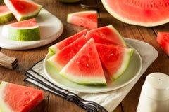Organic Ripe Seedless Watermelon Stock Images