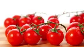 Organic ripe small cherry tomatoes stock video