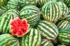 Organic Ripe Watermelon Heap Royalty Free Stock Image