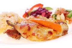 Organic roast chicken Stock Photography