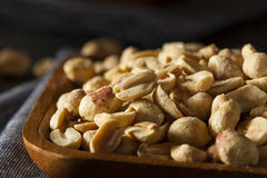 Organic Roasted Salty Peanuts Royalty Free Stock Photography