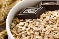Organic rolled oats Royalty Free Stock Images