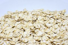 Organic rolled oats - healthy food stock photography