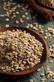 Organic Rolled Rye Flakes Royalty Free Stock Images