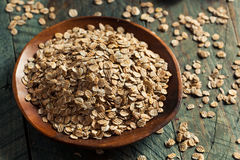Organic Rolled Rye Flakes Stock Photography