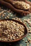 Organic Rolled Rye Flakes Stock Photos