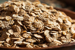 Organic Rolled Rye Flakes Royalty Free Stock Photo