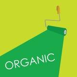 Organic roller green  Royalty Free Stock Image