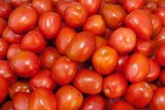 Organic Roma Tomatoes. Organic Broccoli at a Farmer's Market Stock Images