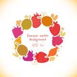 Organic round sticker Stock Images