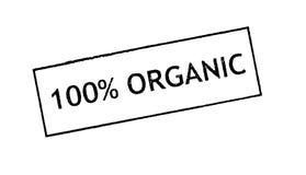 100% Organic  rubber satamp print Royalty Free Stock Photography