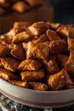 Organic Salty Peanut Butter Pretzel Royalty Free Stock Photos