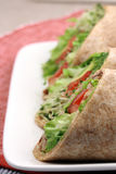 Organic sandwich wraps Stock Photography