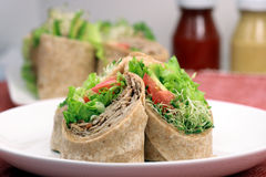 Organic sandwich wraps Stock Images
