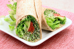 Organic sandwich wraps Royalty Free Stock Images
