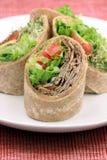 Organic sandwich wraps Stock Images