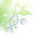 Organic Science. Theme with DNA and sprout over green background royalty free illustration