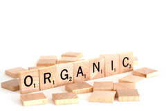 Organic in scramble blocks Royalty Free Stock Image