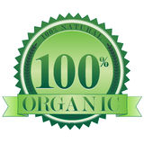 Organic Seal EPS. A 100% natural, 100% organic seal. Available in vector EPS format stock illustration